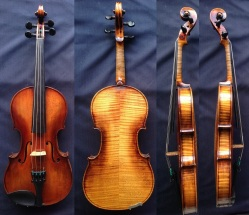 (SN:135 - S$1,690) smaller 3/4 Size Handmade and labelled by violinmaker H. Klepak.