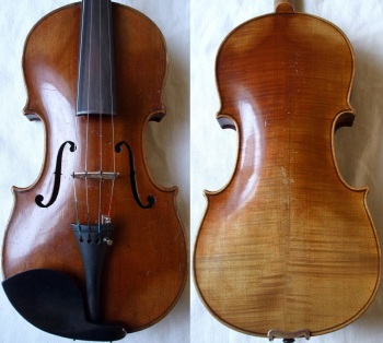 (SN:168 - A$1,499) Unlabeled Stradivarius copy. Germany 1930's