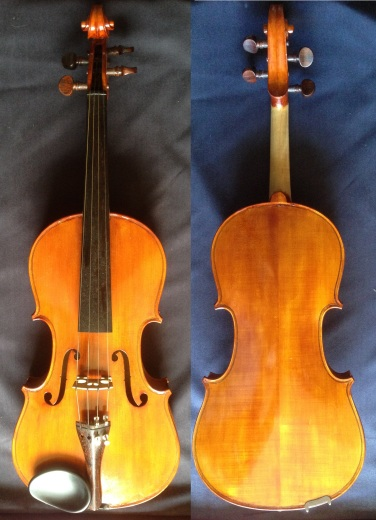 (SN:243 - S$1,899)-French Luthier Ramons Corbeille Stradivarius copy-made 1991